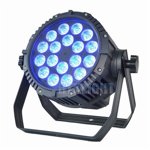 Outside 18X10W LED Dmx Par Can Lights / RGBW Stage Light Waterproof Big Power